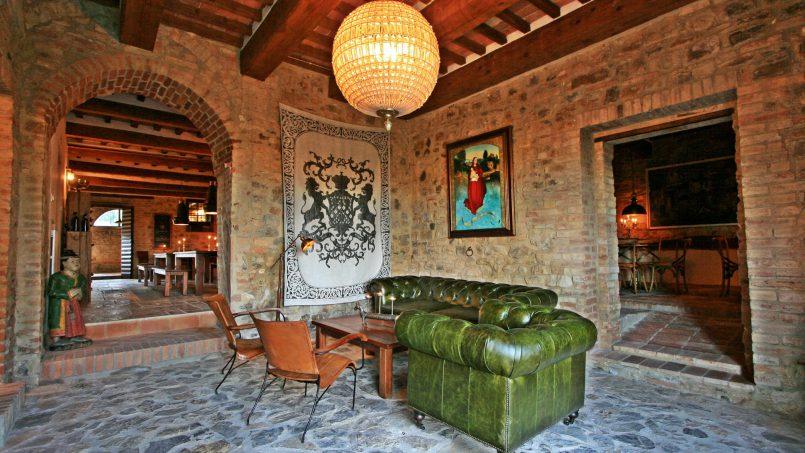 Historic building Villa Lavanda Tuscany Radicondoli 37
