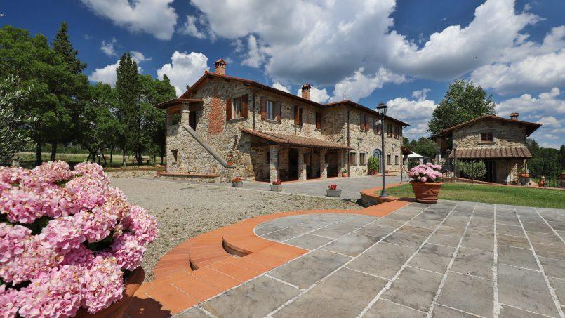Hillside farmhouse Villa Romena Tuscany Poppi 104