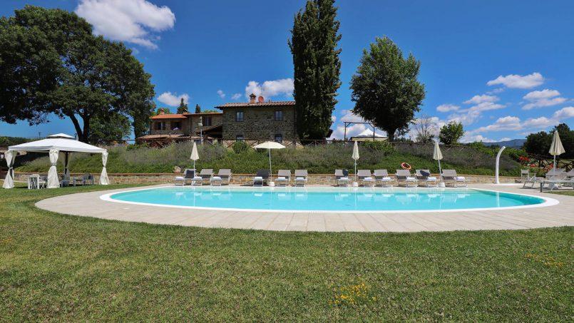 Hillside farmhouse Villa Romena Tuscany Poppi 13