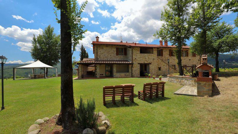 Hillside farmhouse Villa Romena Tuscany Poppi 45