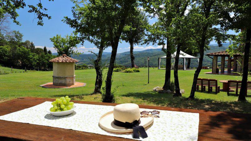 Hillside farmhouse Villa Romena Tuscany Poppi 46