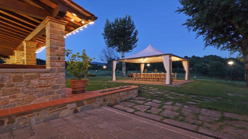 Hillside farmhouse Villa Romena Tuscany Poppi 60