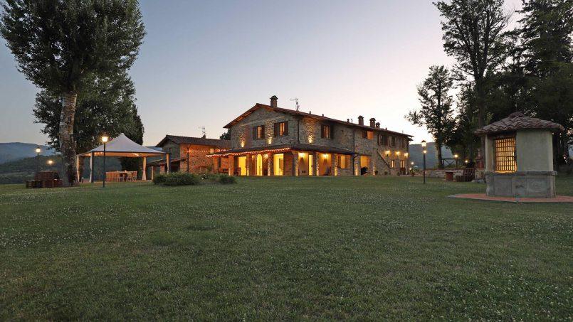 Hillside farmhouse Villa Romena Tuscany Poppi 63
