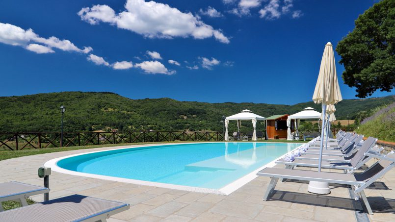 Hillside farmhouse Villa Romena Tuscany Poppi 7