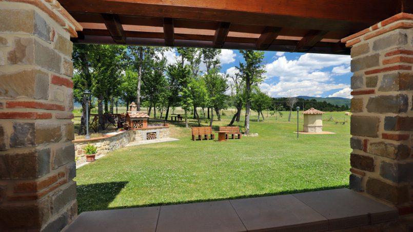 Hillside farmhouse Villa Romena Tuscany Poppi 78