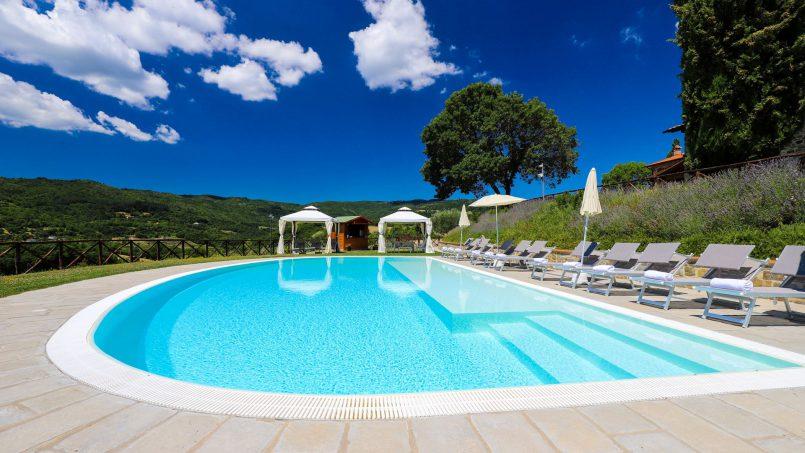 Hillside farmhouse Villa Romena Tuscany Poppi 8